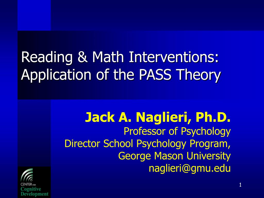 reading math interventions application of the pass theory l.