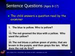sentence questions ages 8 17