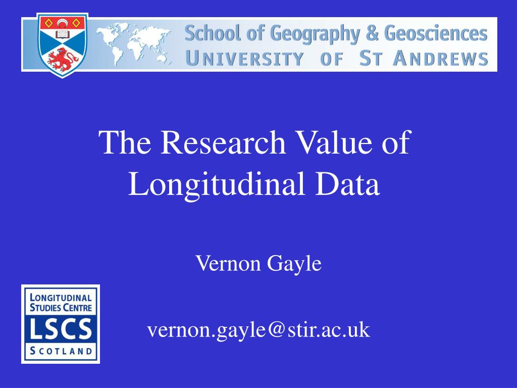 the research value of longitudinal data l.
