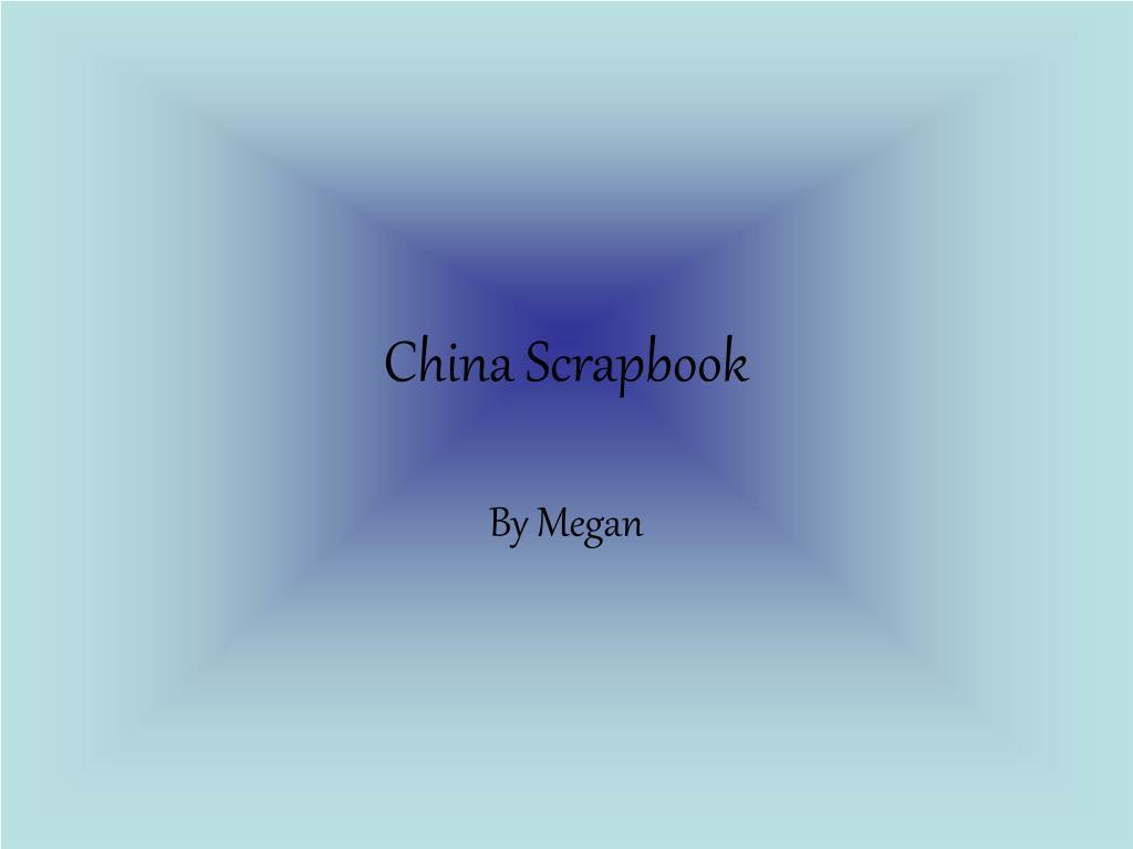 china scrapbook l.
