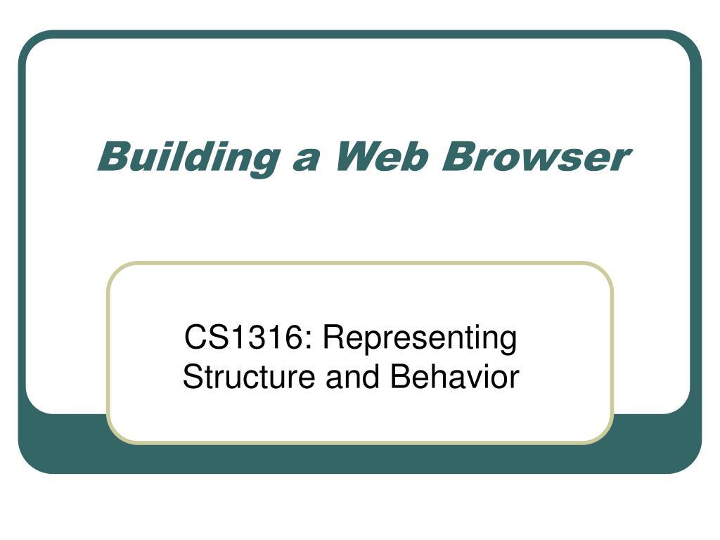 building a web browser l.