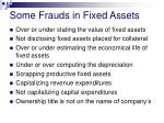 some frauds in fixed assets