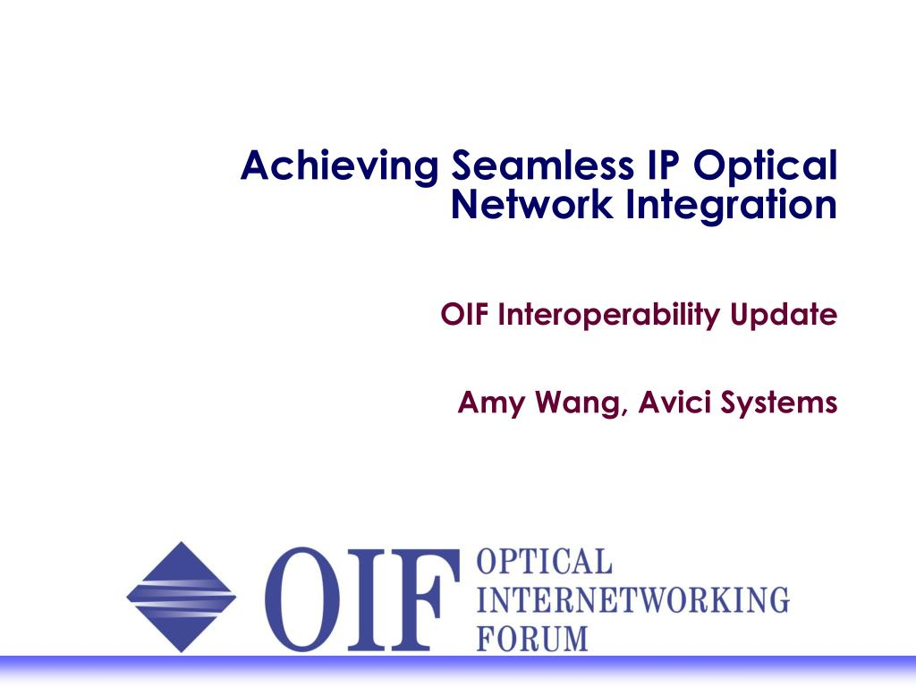 achieving seamless ip optical network integration l.