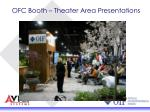 ofc booth theater area presentations