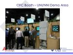 ofc booth uni nni demo area