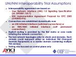 uni nni interoperability trial assumptions