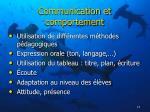 communication et comportement