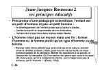 jean jacques rousseau 2 ses principes ducatifs