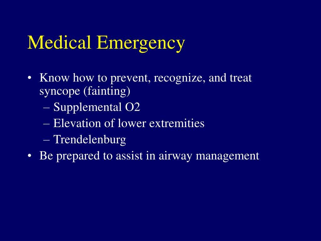 Medical Emergency