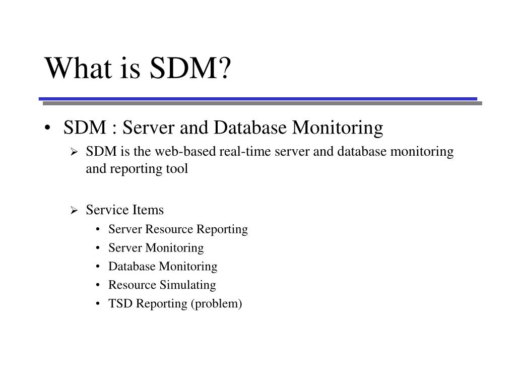 what is sdm l.