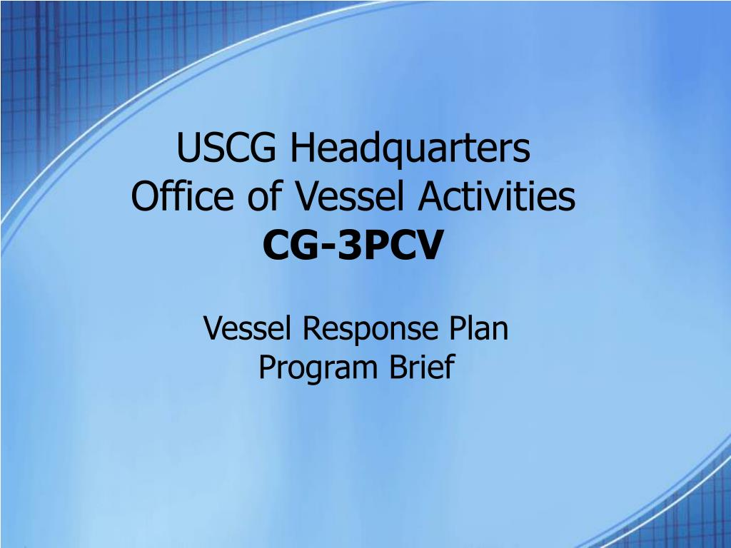 uscg headquarters office of vessel activities cg 3pcv l.