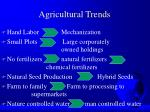 agricultural trends