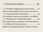3 corrective actions 32