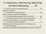 4 inspections monitoring reporting and recordkeeping 35