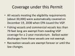 coverage under this permit