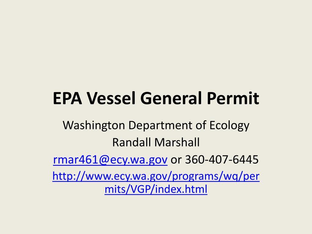epa vessel general permit l.