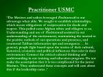 practitioner usmc