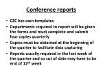conference reports