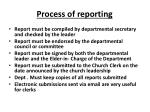 process of reporting