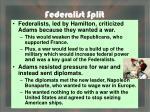federalist split