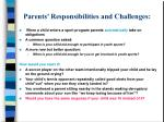 parents responsibilities and challenges