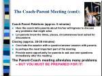 the coach parent meeting cont23