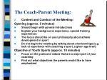 the coach parent meeting