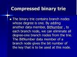 compressed binary trie