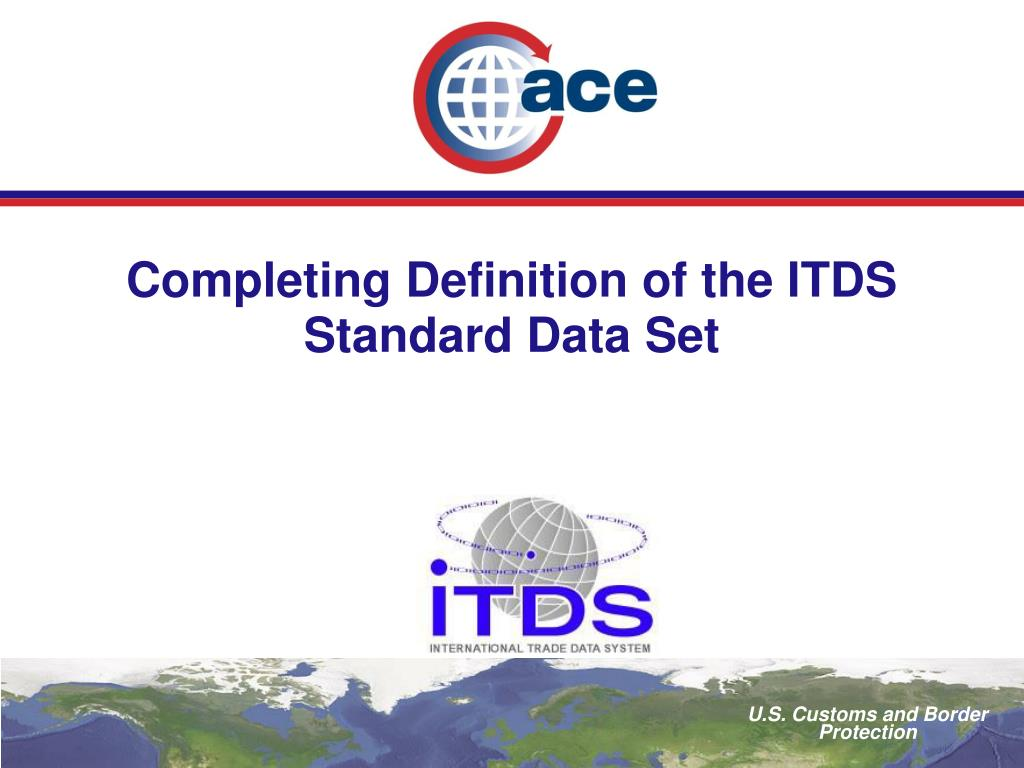 completing definition of the itds standard data set l.