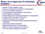 phase two agencies for detailed analysis