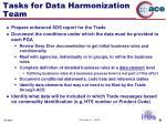 tasks for data harmonization team