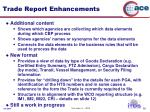 trade report enhancements
