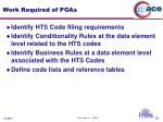 work required of pgas