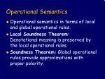 operational semantics