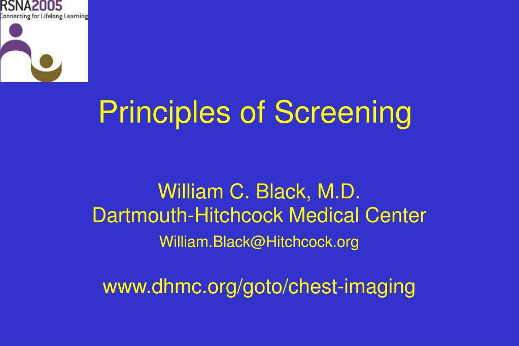 principles of screening l.