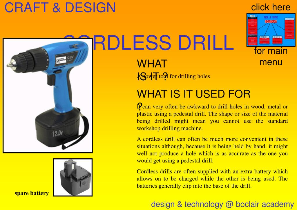 Ppt Cordless Drill Powerpoint Presentation Free Download Id 514389