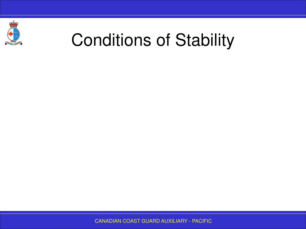 Conditions of Stability