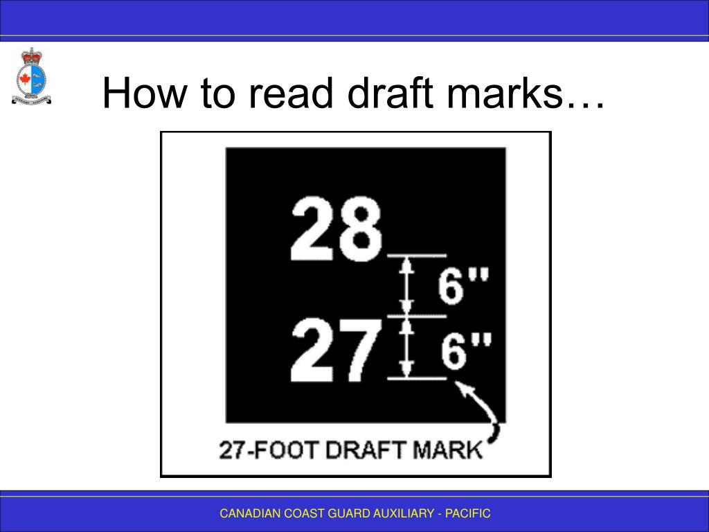 How to read draft marks…