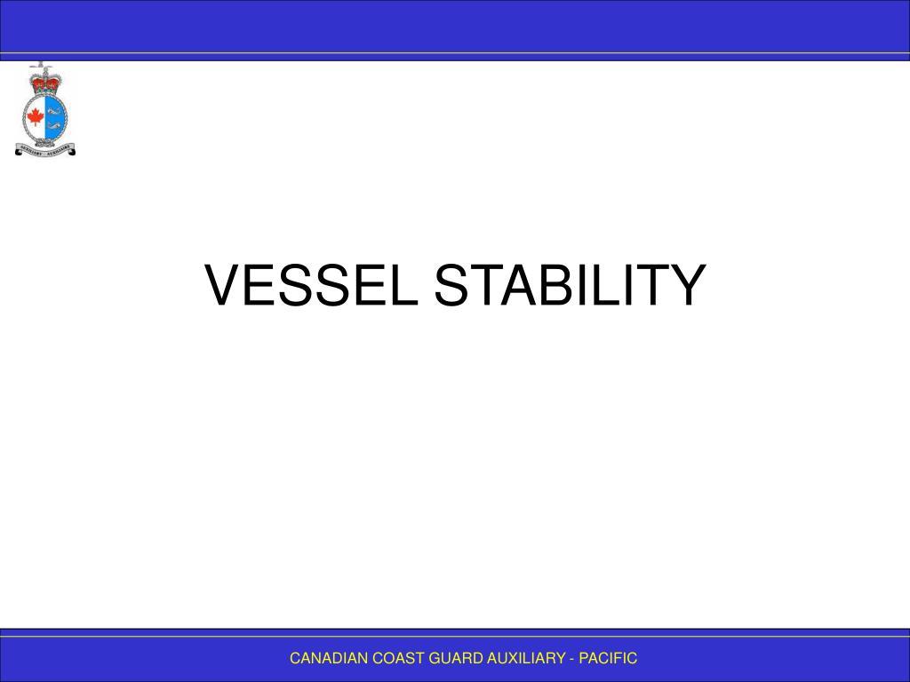 vessel stability l.