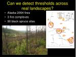 can we detect thresholds across real landscapes
