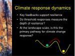 climate response dynamics