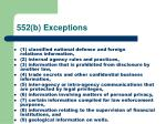 552 b exceptions