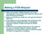 making a foia request