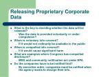 releasing proprietary corporate data