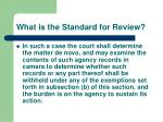 what is the standard for review