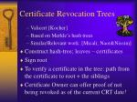 certificate revocation trees