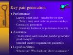 key pair generation26