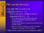 pki and the services