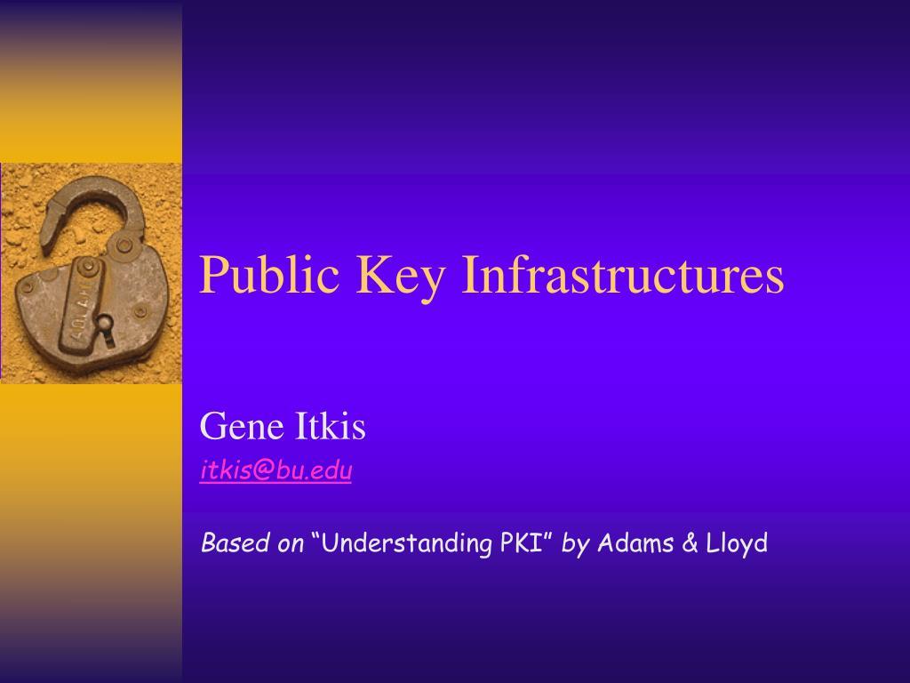 public key infrastructures l.