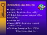 publication mechanisms